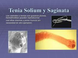 Tenia Solium y Saginata