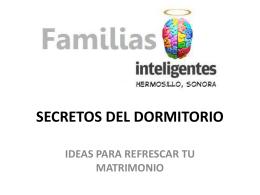 SECRETOS DEL DORMITORIO - Iglesia Bautista La Casa de Dios