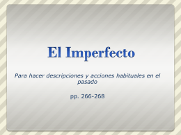 Imperfecto powerpoint
