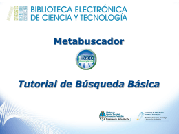 Metabuscador Tutorial