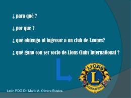 Veinte razones para ingresar a lions clubs