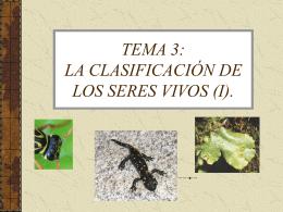 TEMA 10: LA CLASIFICACIÓN DE LOS SERES VIVOS