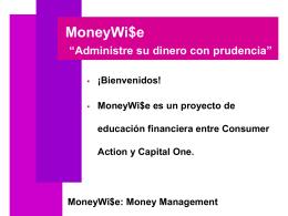 "MoneyWi$e ""Como manejar su dinero"""