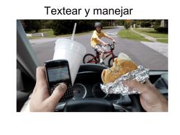 Textear y manejar