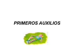 PRIMEROS AUXILIOS - ayuntamiento de corral de almaguer