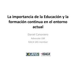 La importancia de la Educación y la formación continua en el