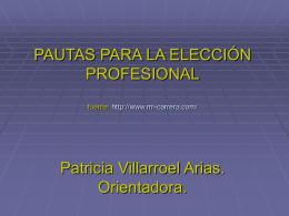 Pautas para la Elección vocacional Cuarto Medio