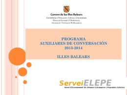 programa de auxiliares de conversación en las islas baleares 2013