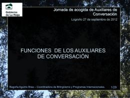 Jornada de acogida de Auxiliares de Conversación