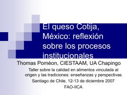 El proceso de calificacion del queso Cotija, México