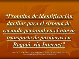 Prototipo de Sistema de identificación personal, por huella digital