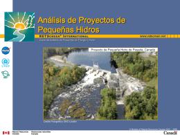 Análisis de Proyectos de Pequeñas Hidros