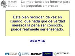 La importancia de Internet para las pequeñas empresas