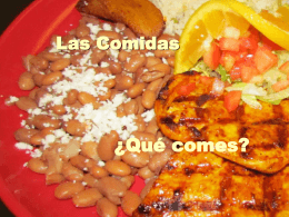 las comidas ppt final copy