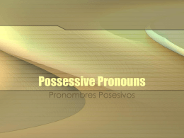 Possessive Pronouns - Auburn City Schools