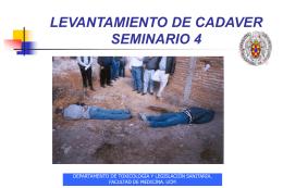 LEVANTAMIENTO MINISTERIAL DE UN CADAVER