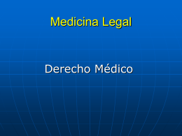 Medicina Legal - clasesmedicina