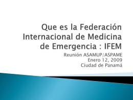 Que es la Federacion Internacional de Medicina de