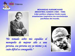 Mahatma Gandhi - Ciudad Redonda