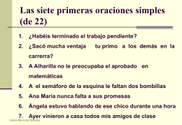 22 oraciones - IES Fuente de la Peña