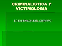 DISTANCIA DEL DISPARO