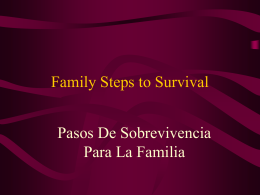 Family Steps to Survival