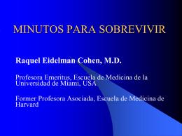 Minutos Para Sobrevivir - Raquel E. Cohen, MD, MPH