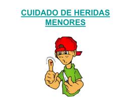 CUIDADO DE HERIDAS MENORES - Bienvenidos a nuestra web