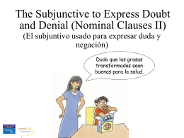 The subjunctive, doubt and denial