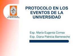 Protocolo en los eventos
