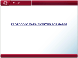 Protocolo de Eventos Formales