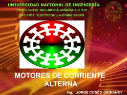 motores de ca – asïncronos - Ing. Jorge Cosco Grimaney