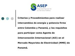 MERCADO MAYORISTA DE ELECTRICIDAD DE PANAMÁ