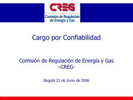 Propuesta Regulatoria Cargo por Confiabilidad