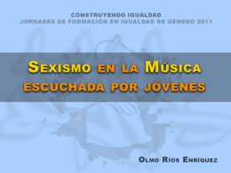 Sexismo en la música escuchada por jóvenes. ppt