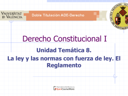 Derecho Constitucional I - OCW-UV