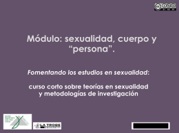 """La construcción social del cuerpo, """"persona"""" y sexualidad"""