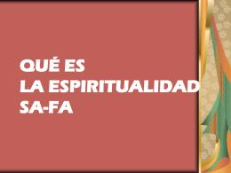 ¿qué es la espiritualidad safa? - Hermanos de la Sagrada Familia