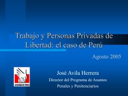 Trabajo y personas privadas de libertad