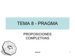 TEMA 8 - PRAGMA