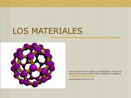 LOS MATERIALES - I.E.S. Tiempos Modernos