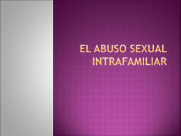 O abuso sexual intrafamiliar