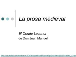 El Conde de Lucanor y la prosa