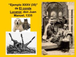 """""""Ejemplo XXXV (35)"""" de El conde Lucanor, don Juan Manuel, 1335"""