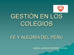 PROPUESTA DE GESTIÓN FE Y ALEGRÍA DEL PERÚ