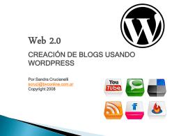 Crear un blog - Tutorial por Sandra Crucianelli