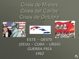 Crisis de Misiles 1962 - Política Internacional Contemporánea