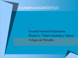 examen diagnóstico - Instituto de Investigaciones Filosóficas
