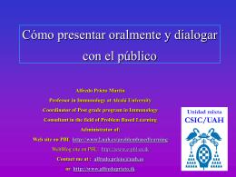 ¿Cómo presentar oralmente y dialogar con el público?
