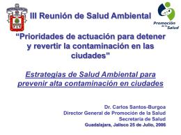 III Reunión de Salud Ambiental - Maestría en Ciencias de la Salud
